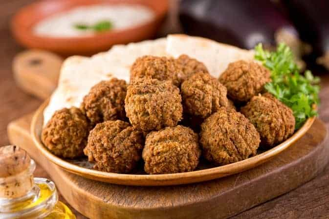 Crispy Oven Baked Falafel's with Tahini Sauce