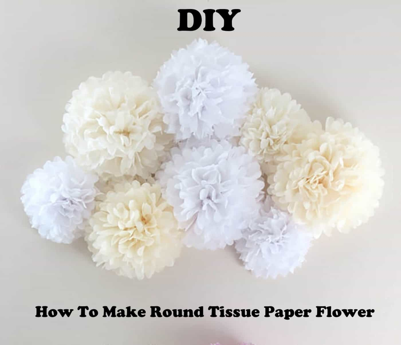 DIY how to make a round tissue paper flower